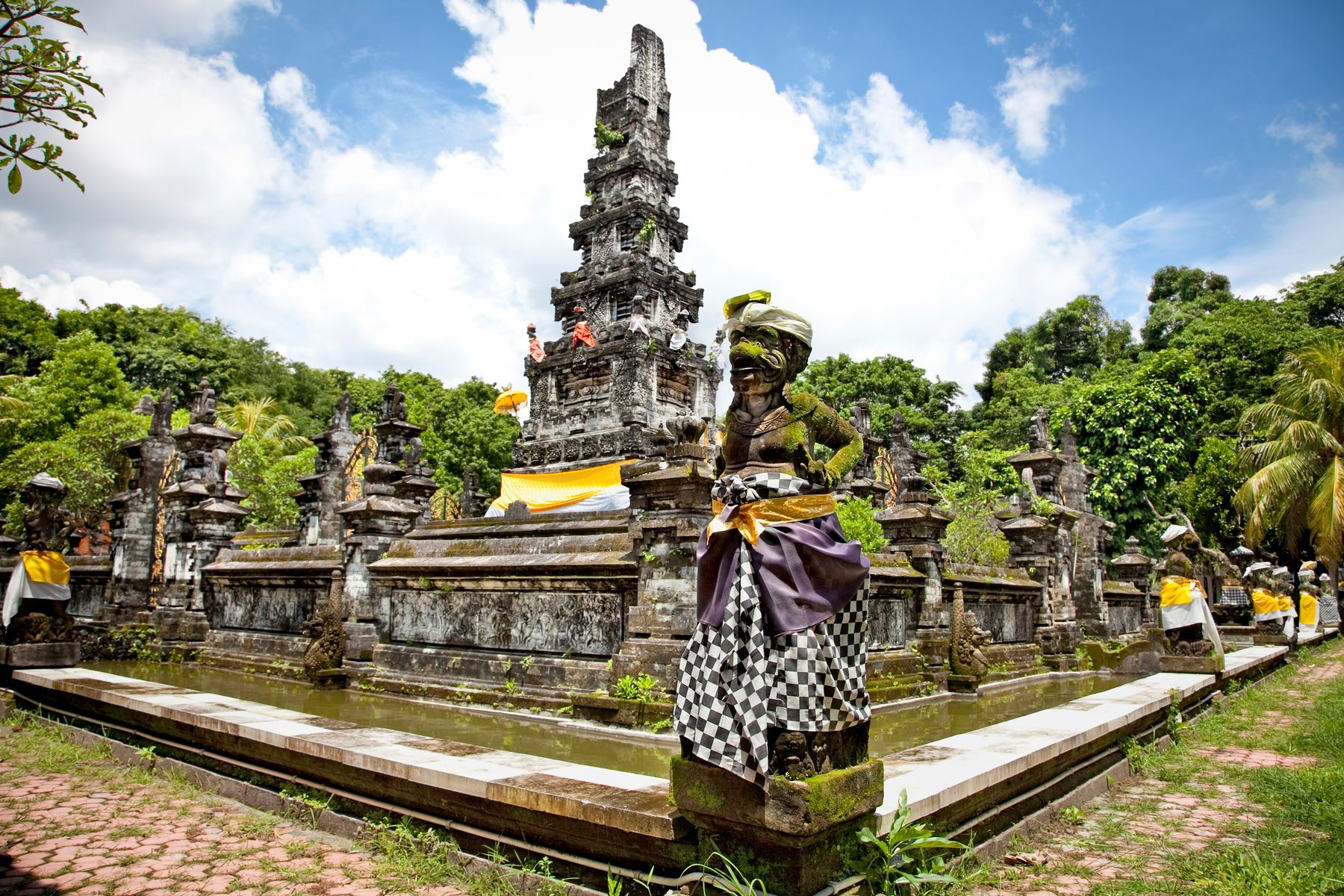 A decorated temple in Bali