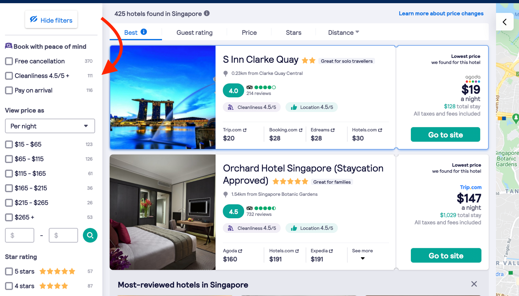 hotel search engine for multi city hotel stays