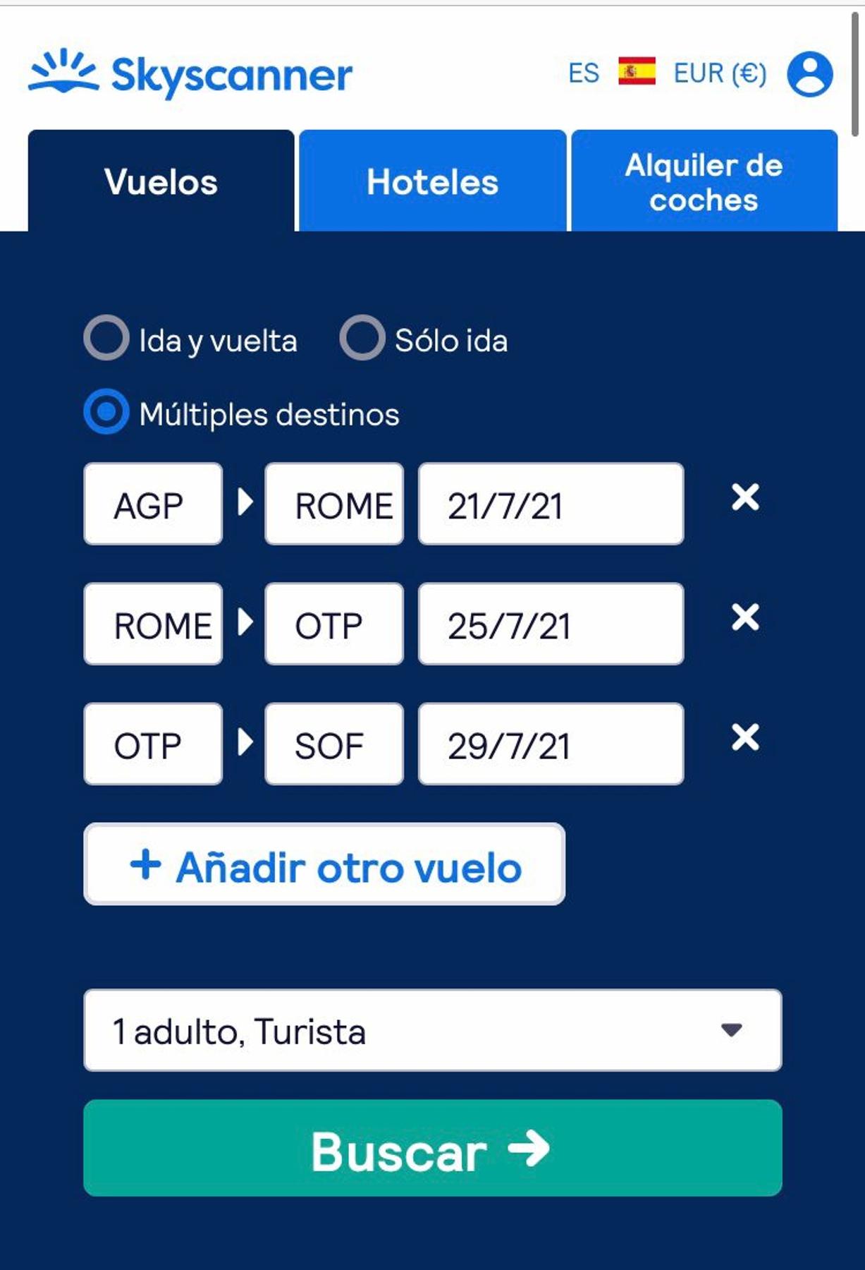 """La opción """"Múltiples destinos"""" te ayudará a organizar tus viajes con varias escalas"""
