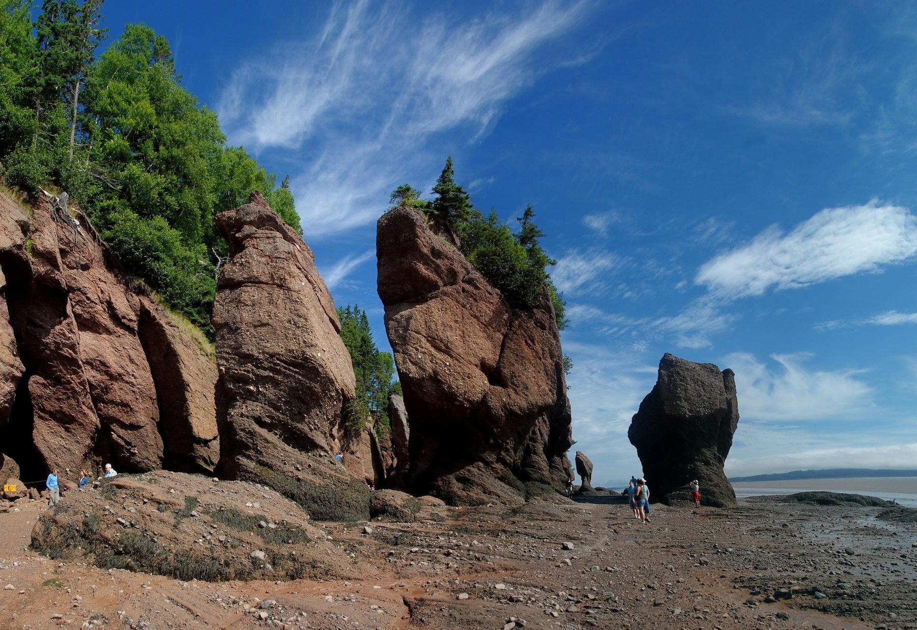 Hopewell Rocks in Bay of Fundy, New Brunswick, Canada