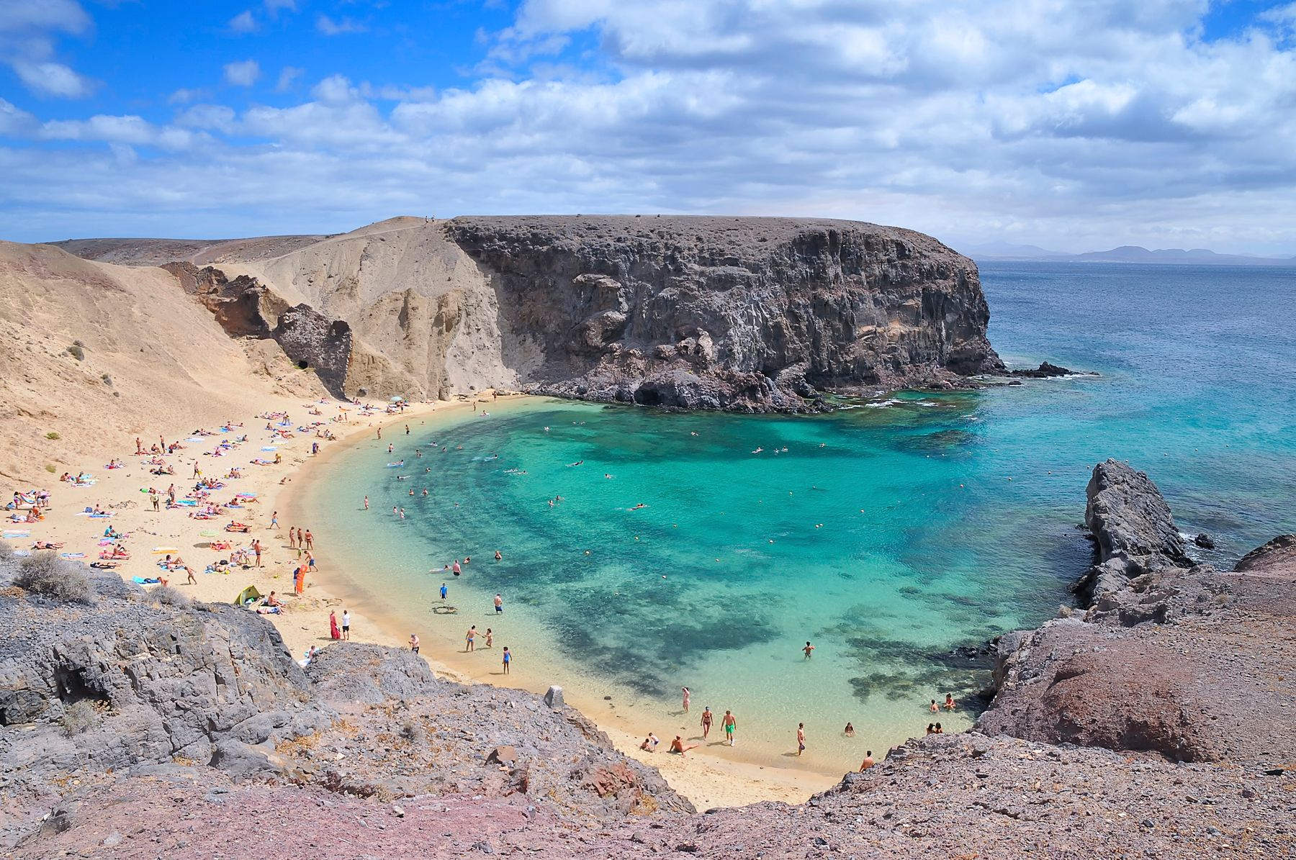 Papagayo beach in Lanzarote - a budget family holiday destination