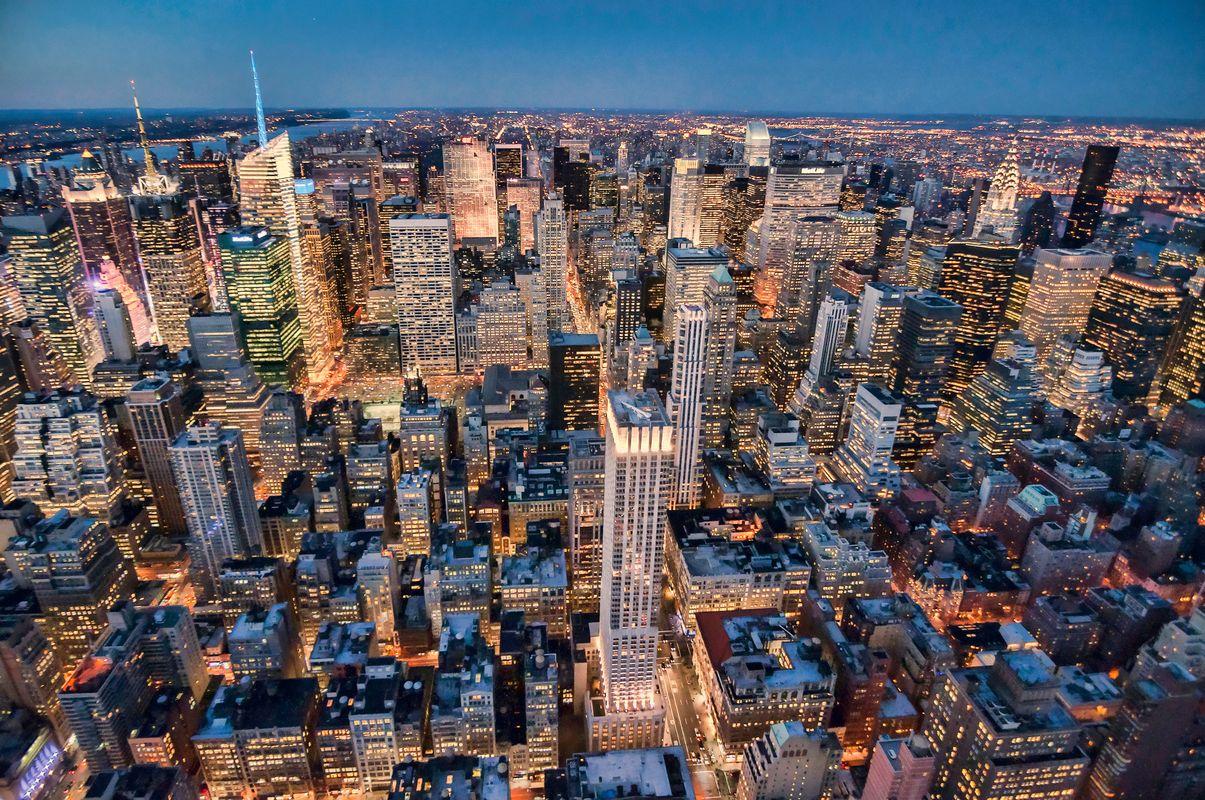Viajar barato a Nueva York: Manhattan desde el aire