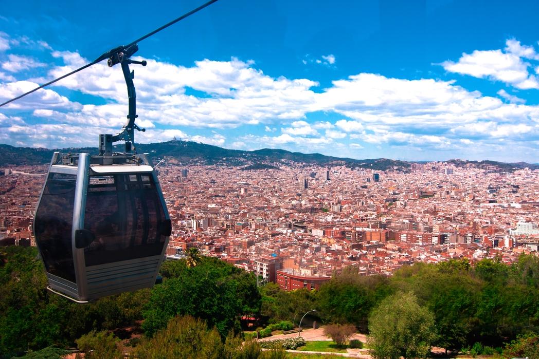 Βόλτα με το τελεφερίκ στο Tibidabo της Βαρκελώνης