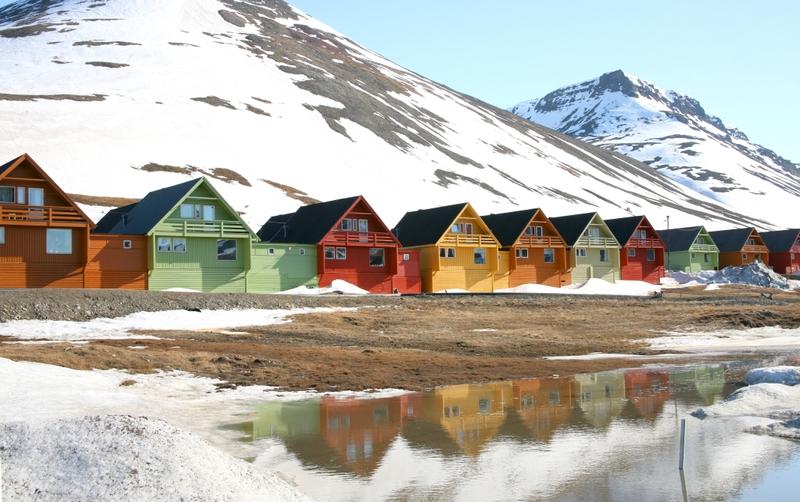 Villaggio delle Isole Svalbard