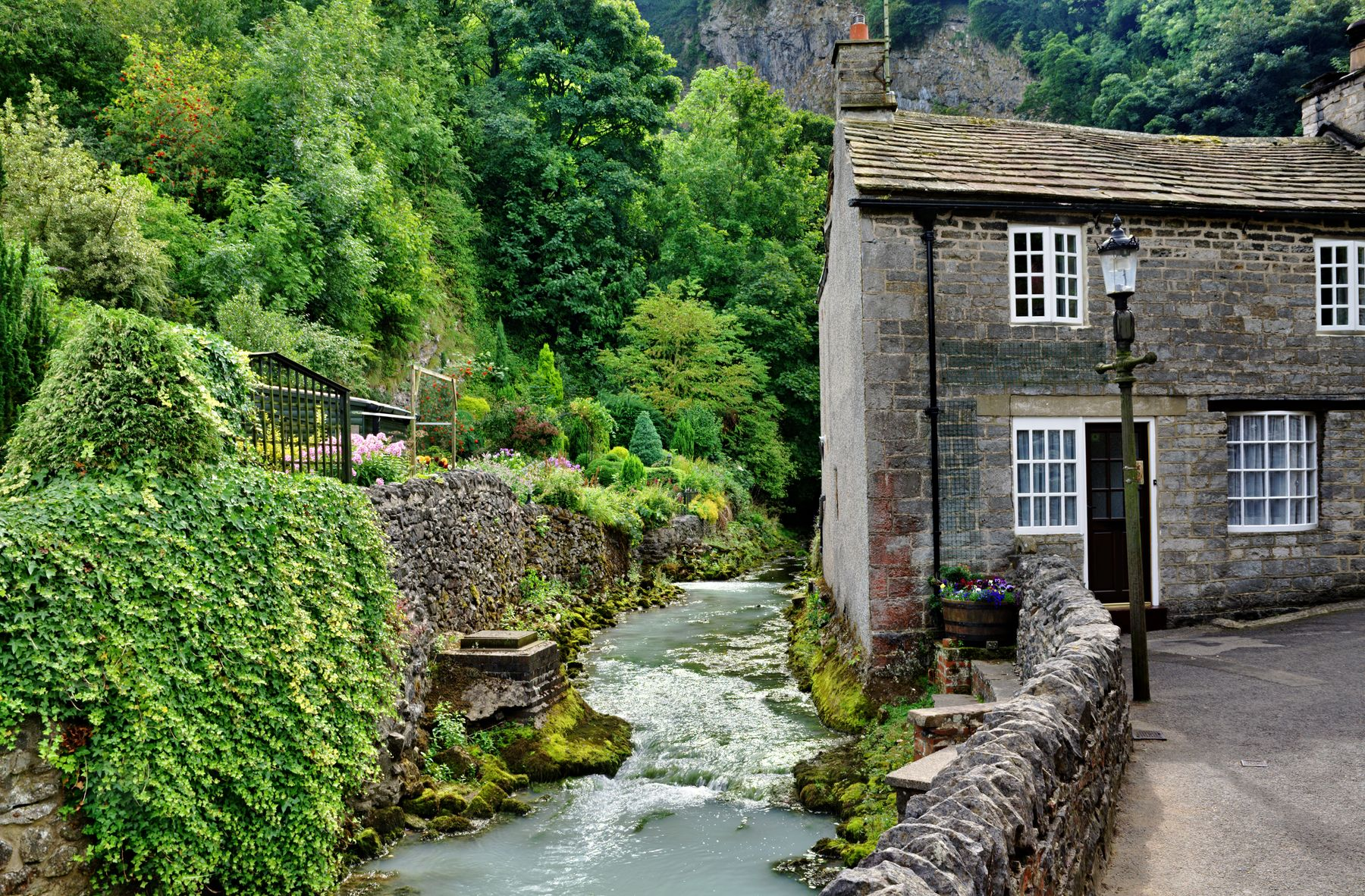 Castleton is one of many pretty mining villages in England