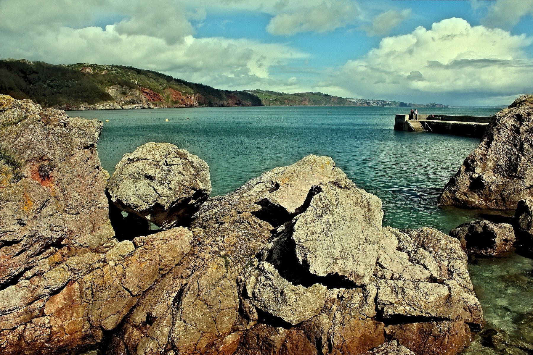 Babbacombe Beach in Torquay is the location of Cary Arms Hotel, one of the best beach hotels in England