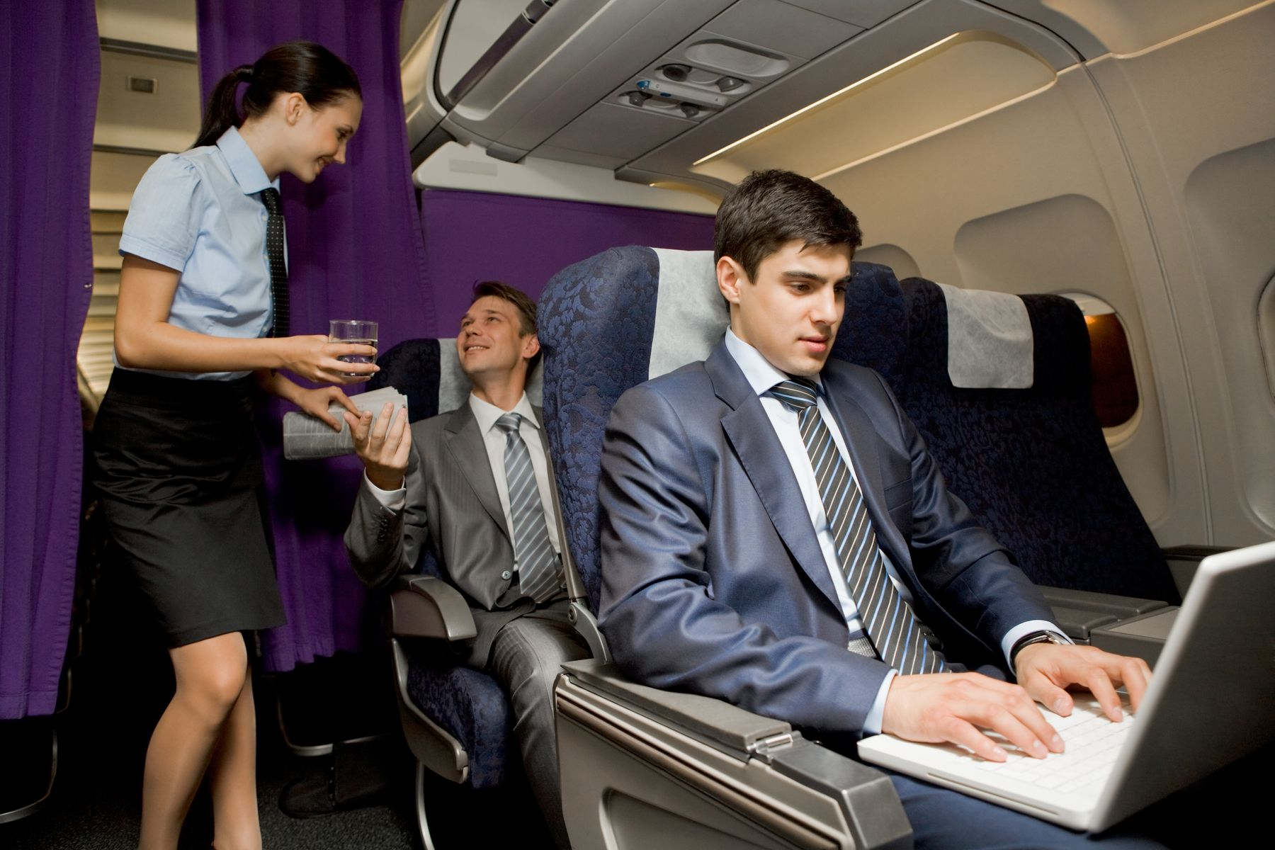 American Airlines business class passenger