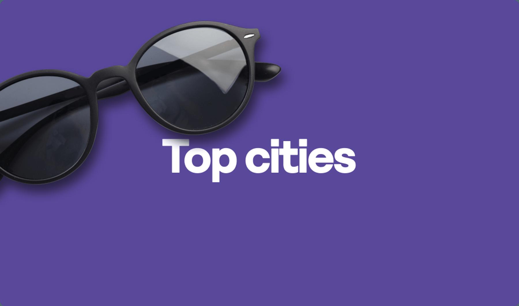 Top cities graphic
