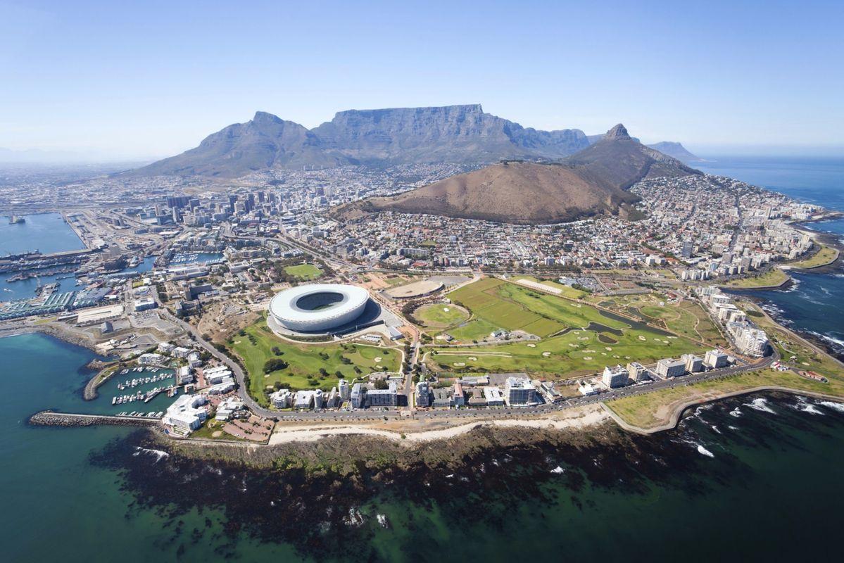 Αεροφωτογραφία του Κέιπ Τάουν και του Table Mountain
