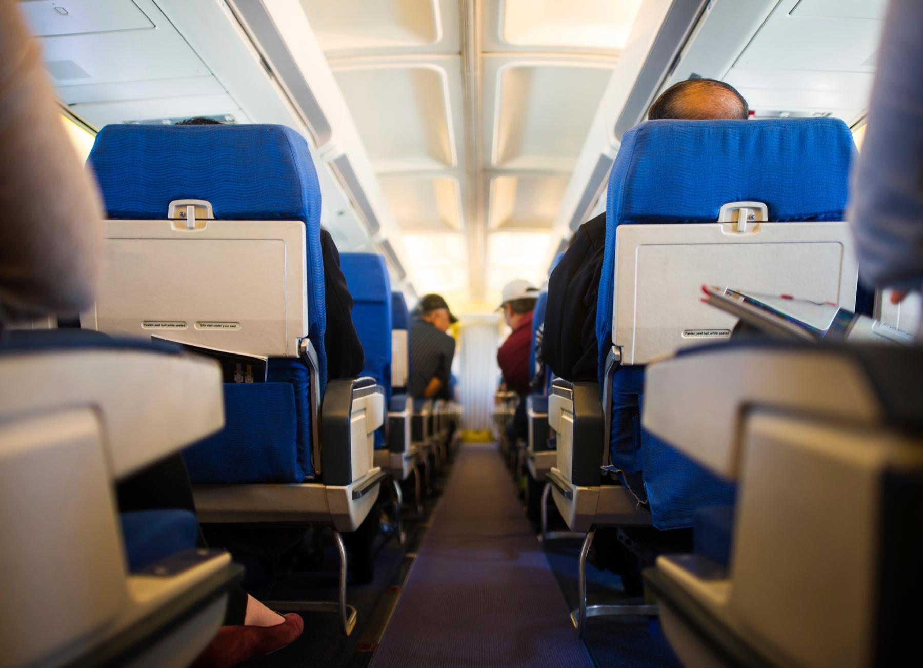 Aan boord van een vliegtuig