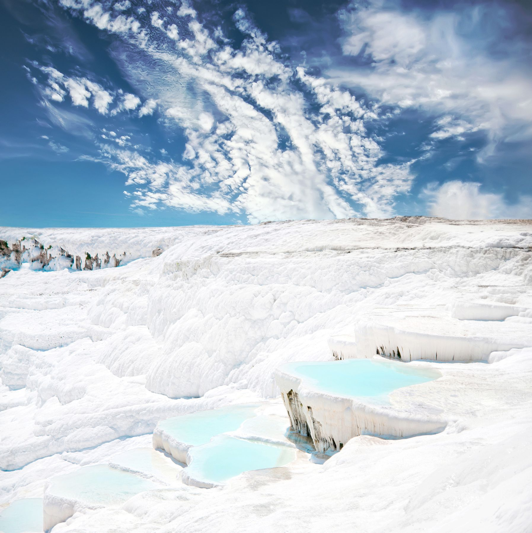 Travertine terrace formations, Pamukkale, Turkey - 10 amazing natural wonders of the world
