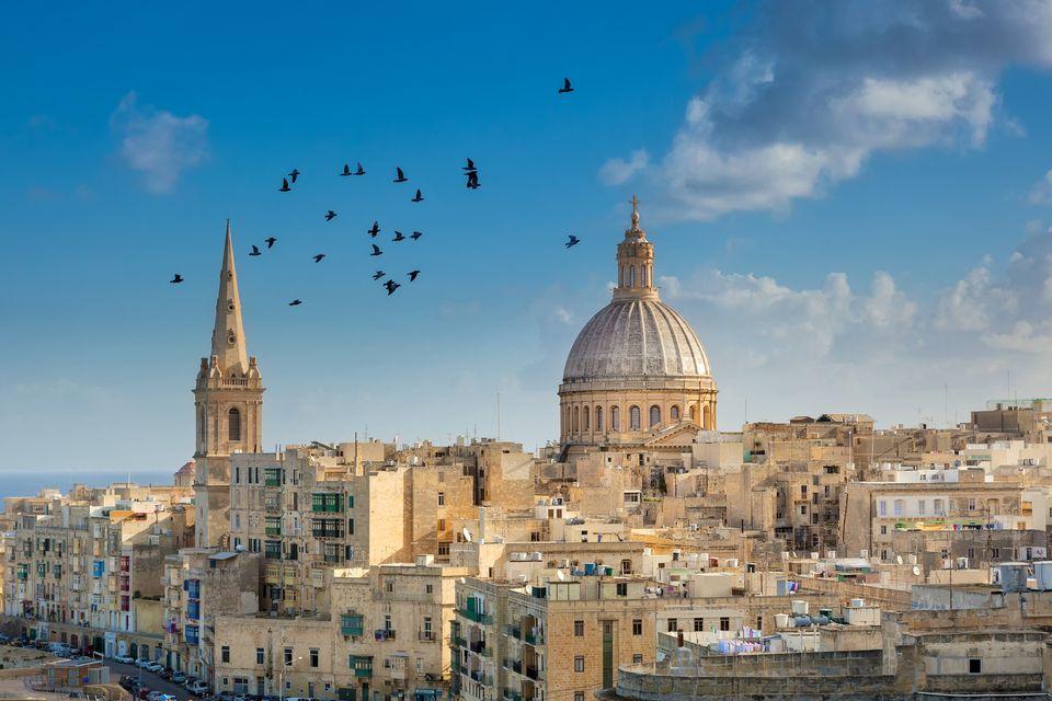 Η πανέμορφη Βαλέτα της Μάλτας με τον καθεδρικό της