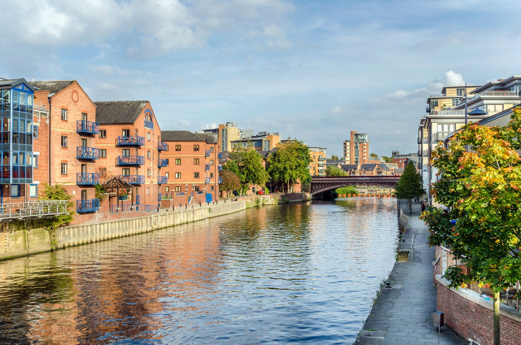 View of Brewery Wharf on Leeds Waterfront
