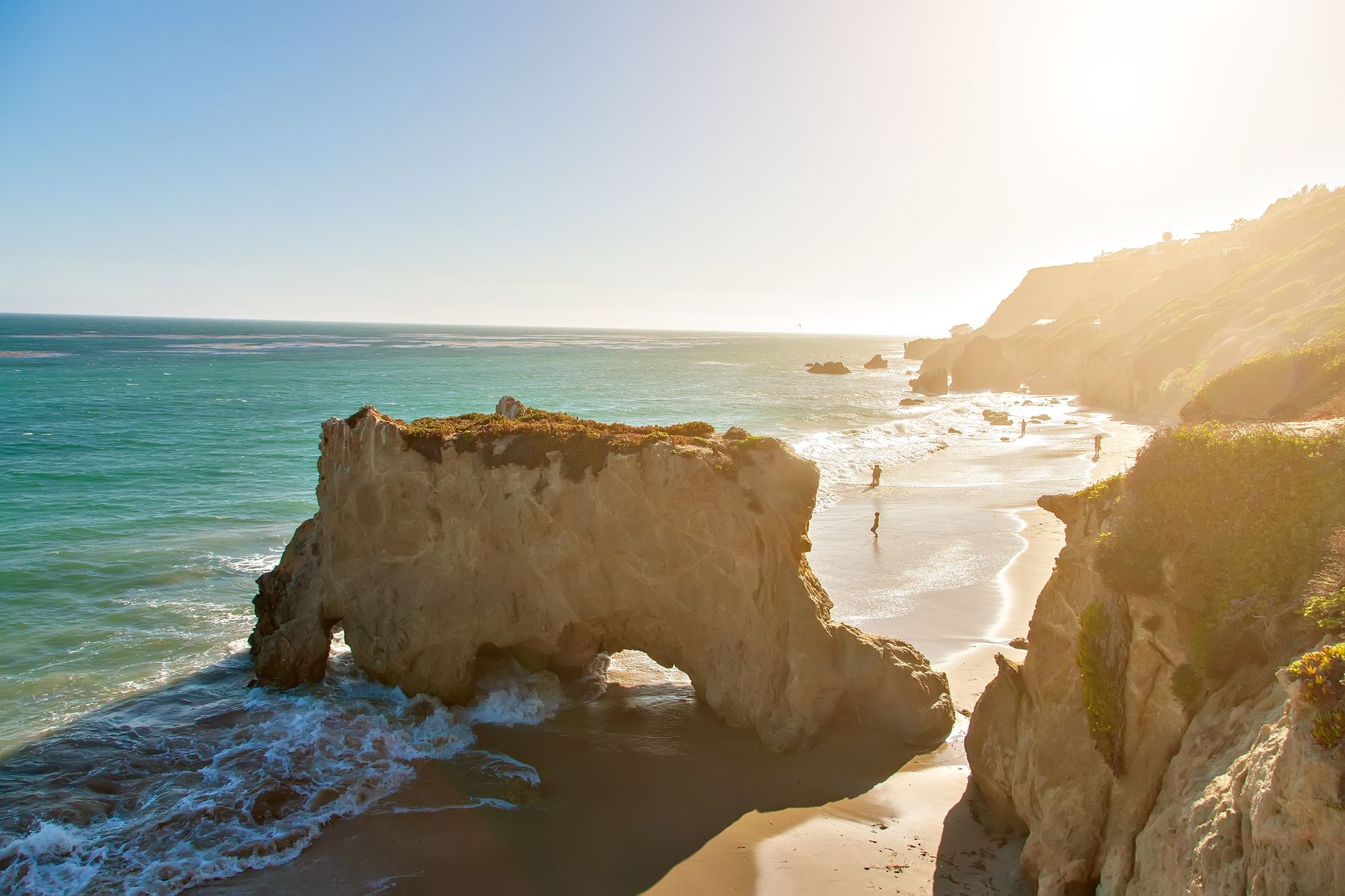 Beautiful and romantic El Matador State Beach in Malibu, Southern California