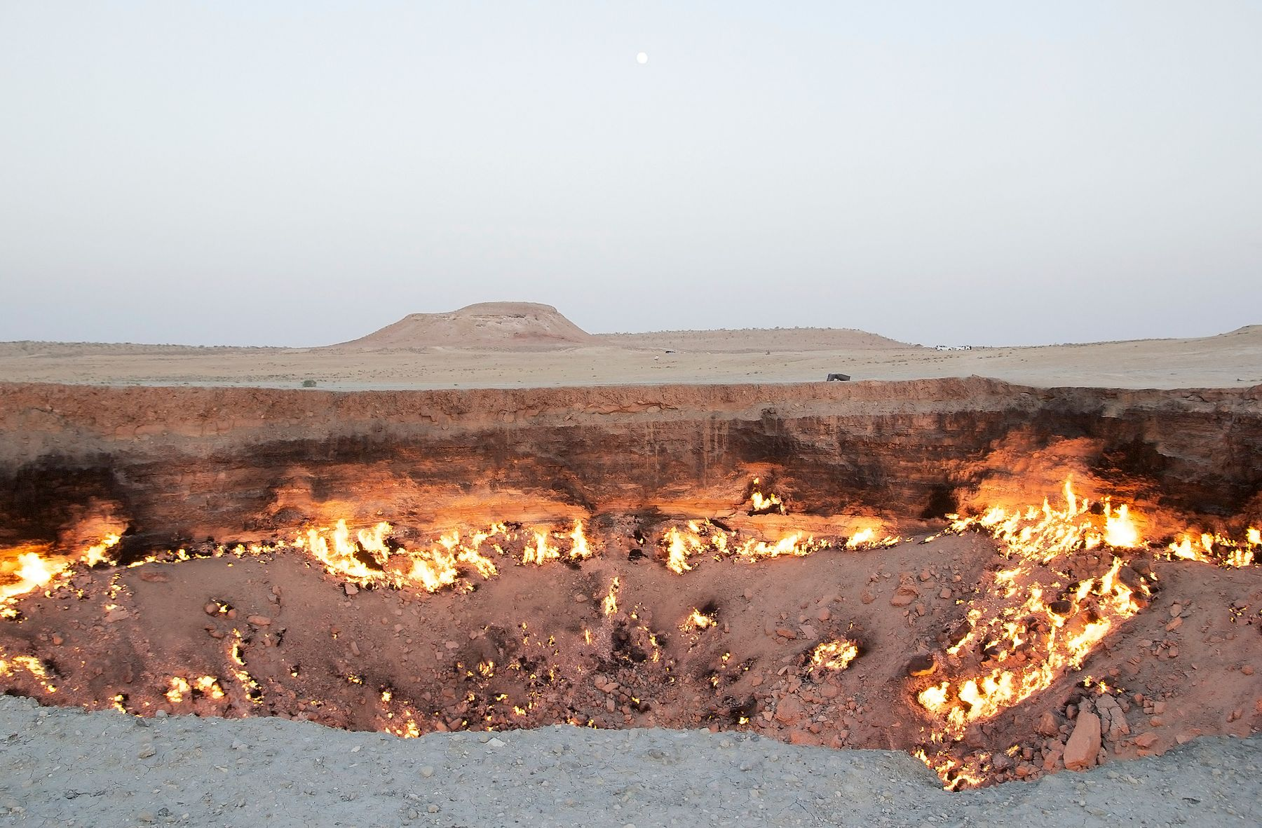The Door to Hell is a natural wonder in Karakum desert, Turkmenistan