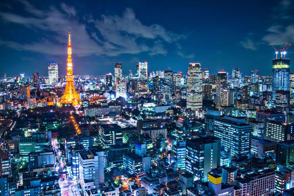 Вид на ночной Токио