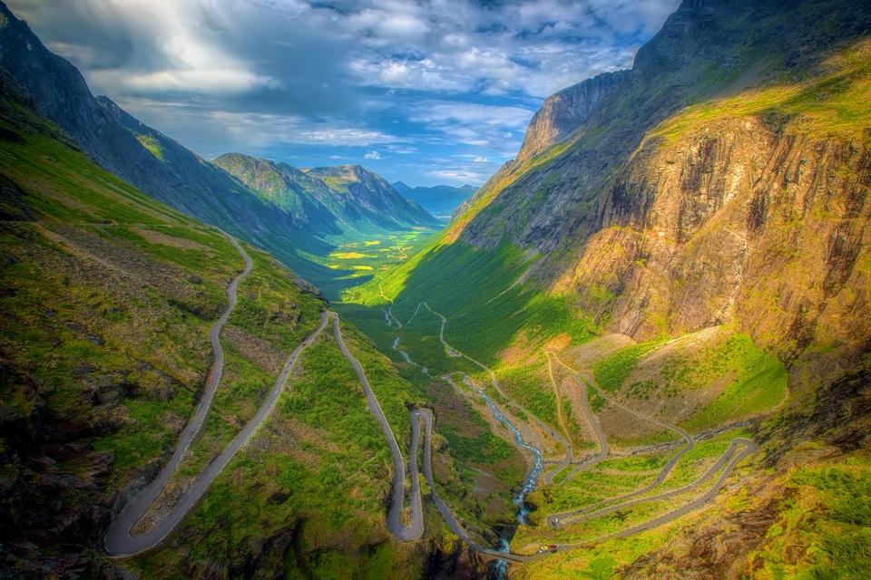 Dramatische Road Trips: Trollstigen Straße Norwegen