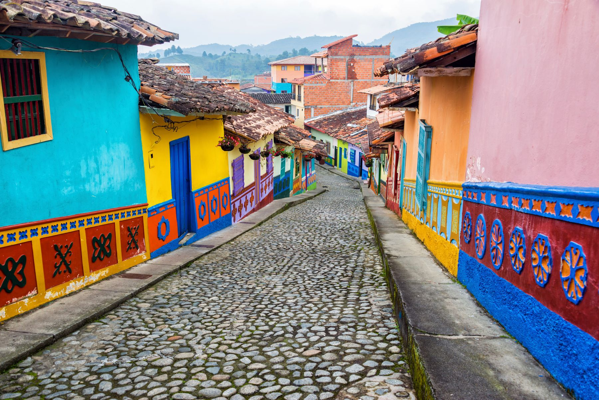 Город Гуатапе, Колумбия