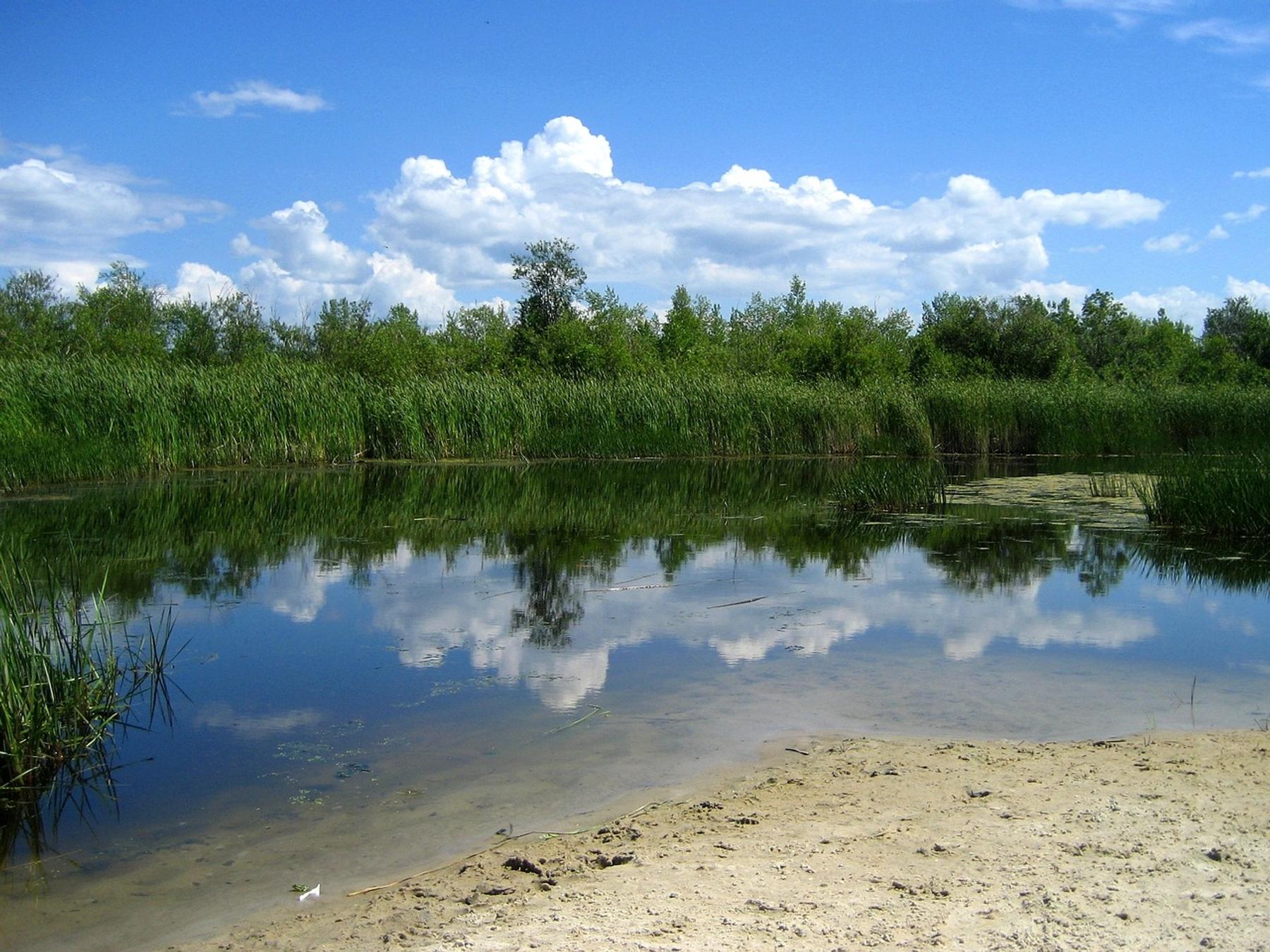 Clear waters of of Grand Bend Beach in Lake Winnipeg