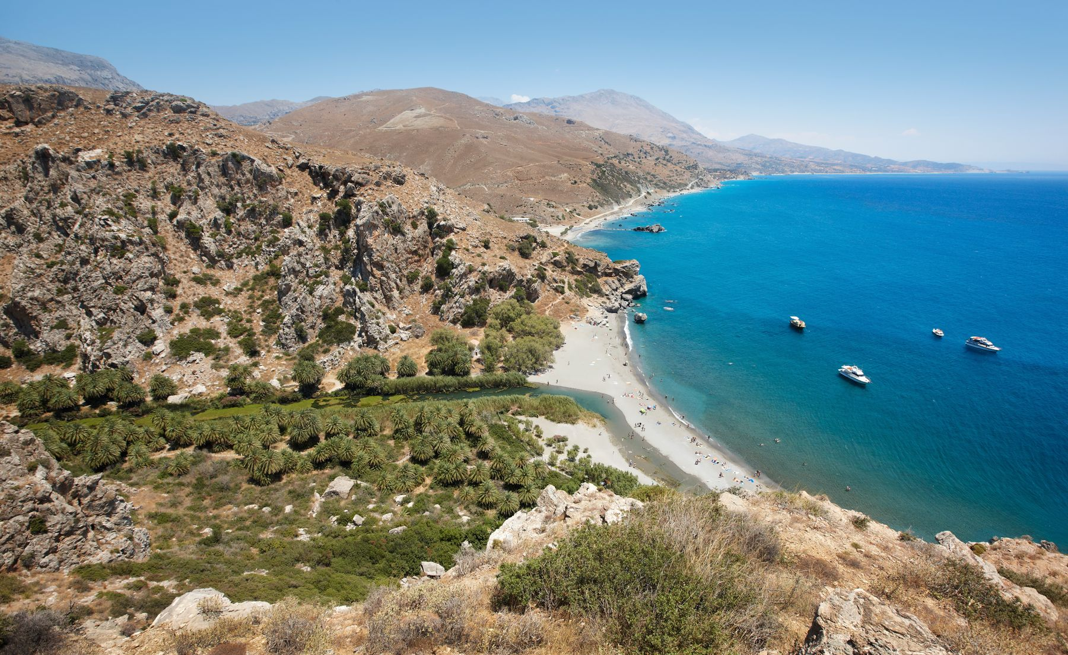 H παραλία της Πρέβελης στην Κρήτη είναι μία από τις πιο ιδιαίτερες στην Ελλάδα