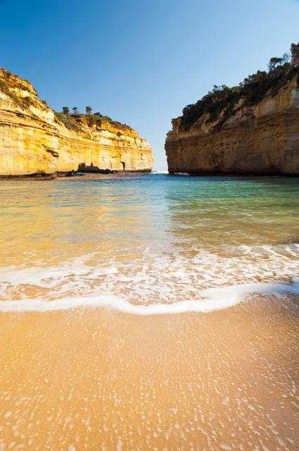 Θεαματική παραλία στο Great Ocean Road της Αυστραλίας