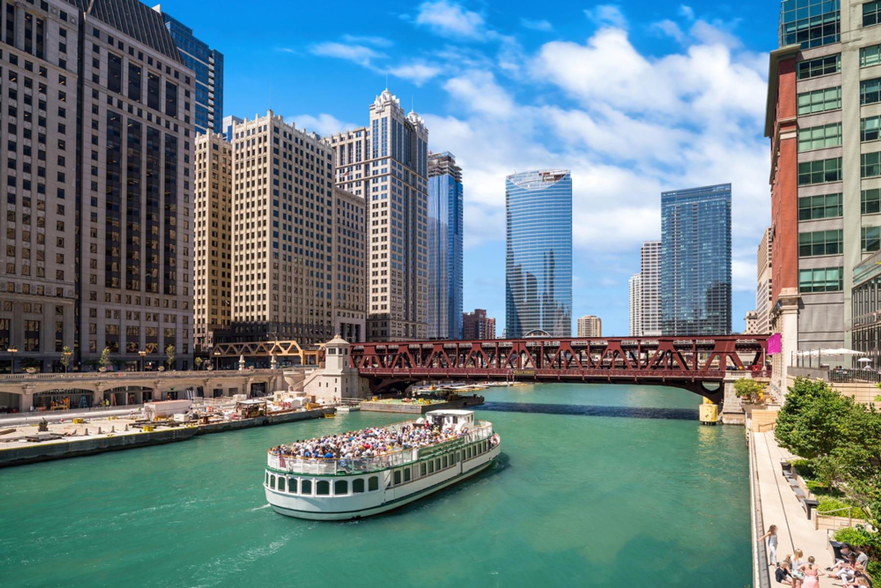 アメリカ・シカゴのリバークルーズ