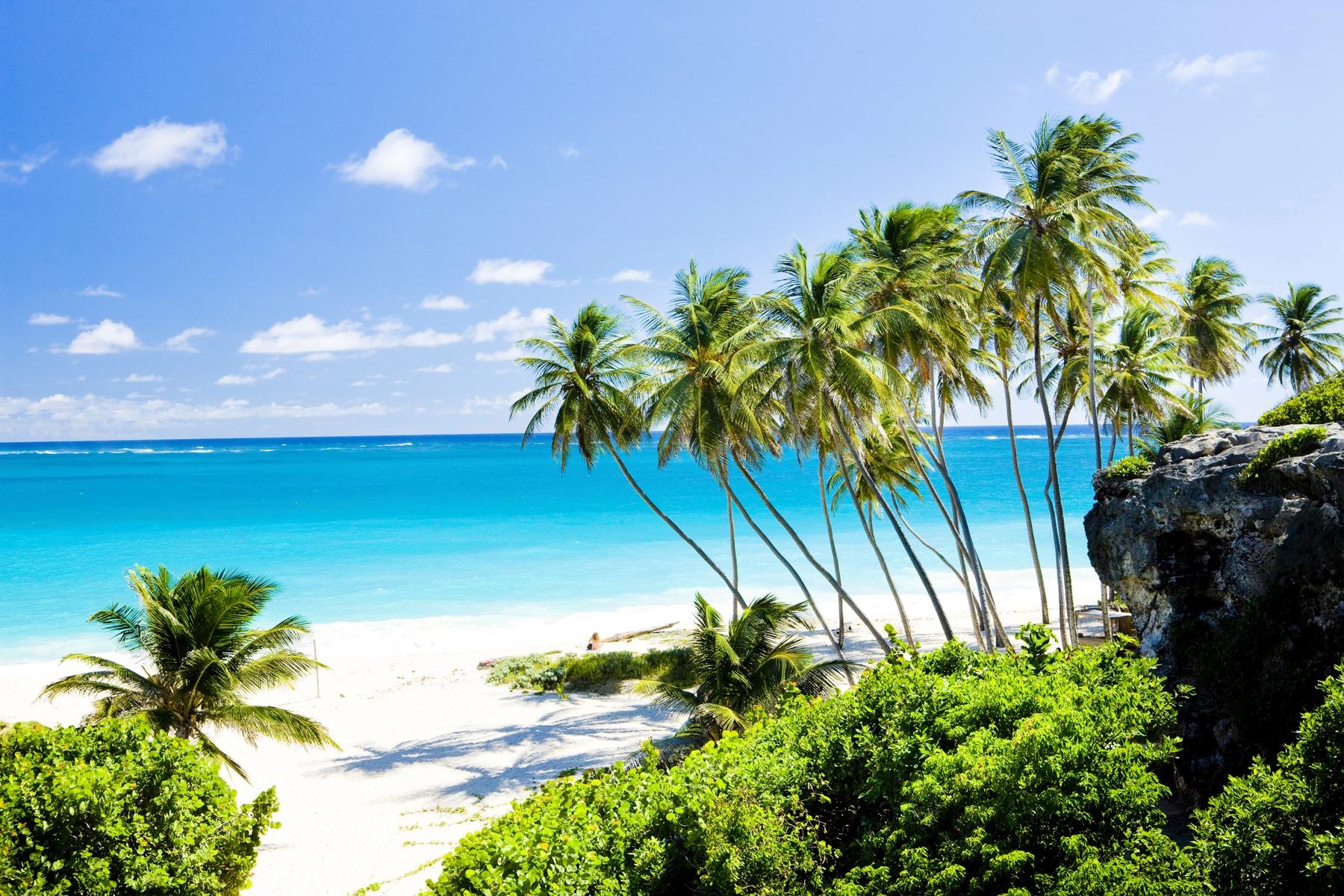 Essa praia de águas azuis em Barbados pode ser o destino do seu anywhere office no Caribe.