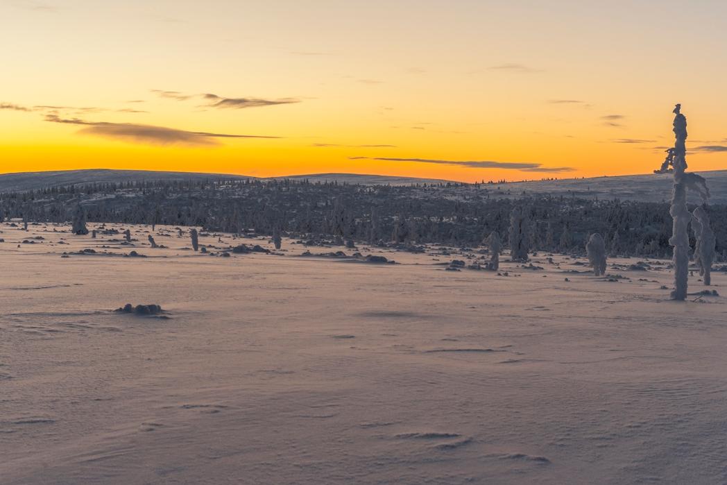 Ηλιοβασίλεμα στο Ροβανιέμι της Φινλανδίας - οι καλύτεροι χειμερινοί προορισμοί