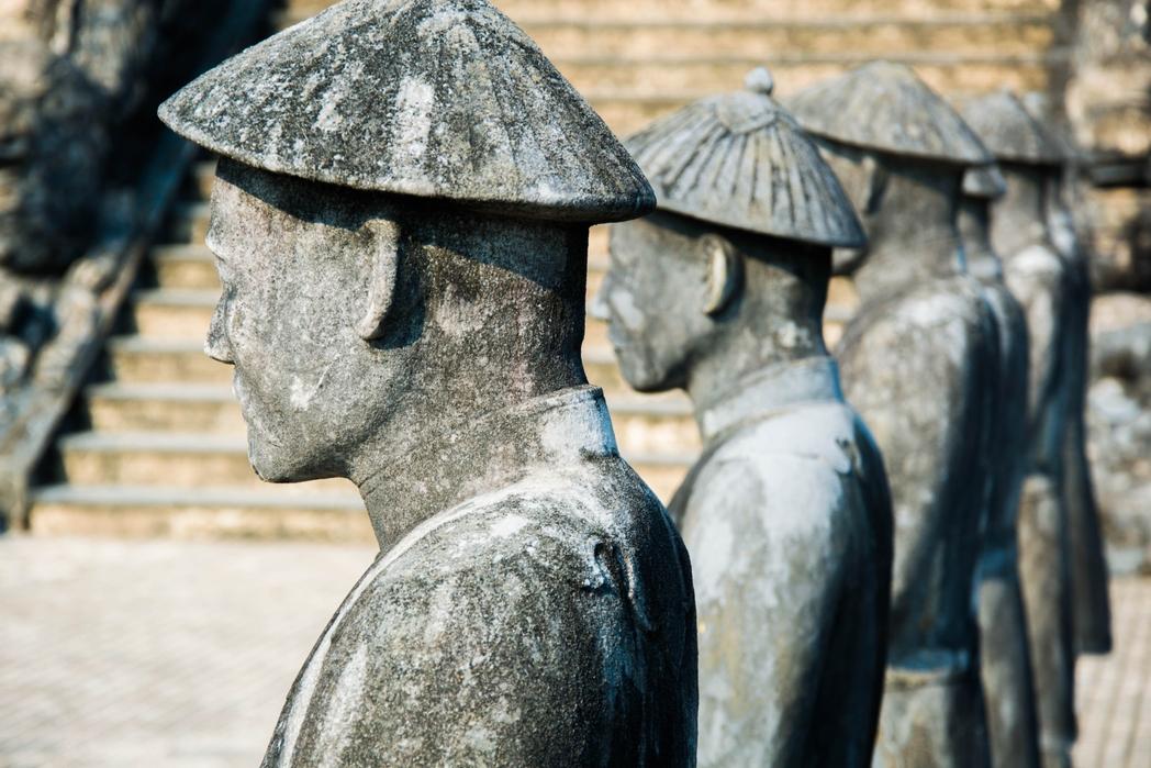 Aγάλματα στην αυτοκρατορική πόλη Χουέ του Βιεντάμ
