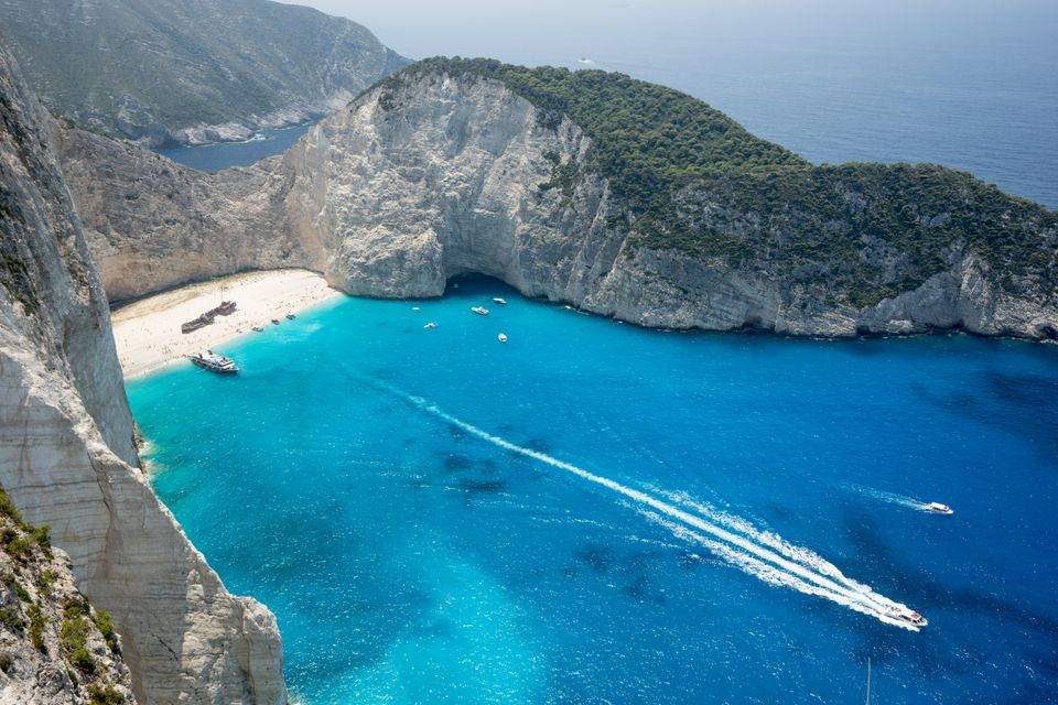 Shipwreck Beach in Zakynthos (Zante) is one of the best beaches in the world
