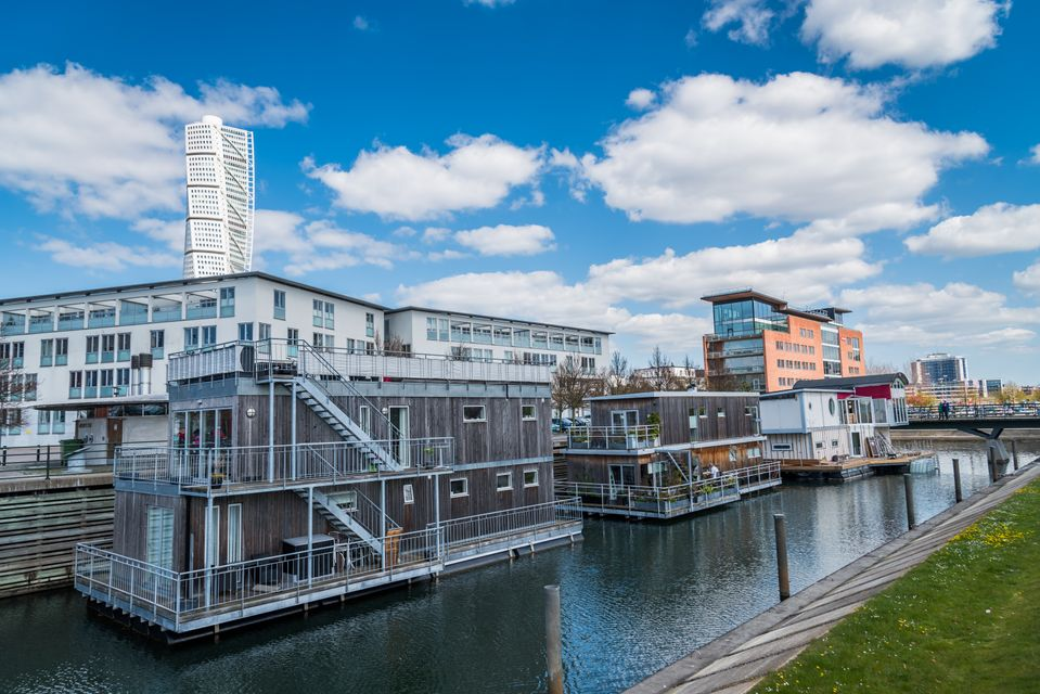To δυτικό λιμάνι του Μάλμε στη Σουηδία