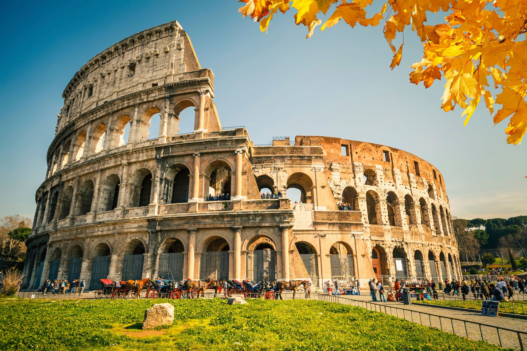The Colloseum in Rome, Italy part of culture podcast
