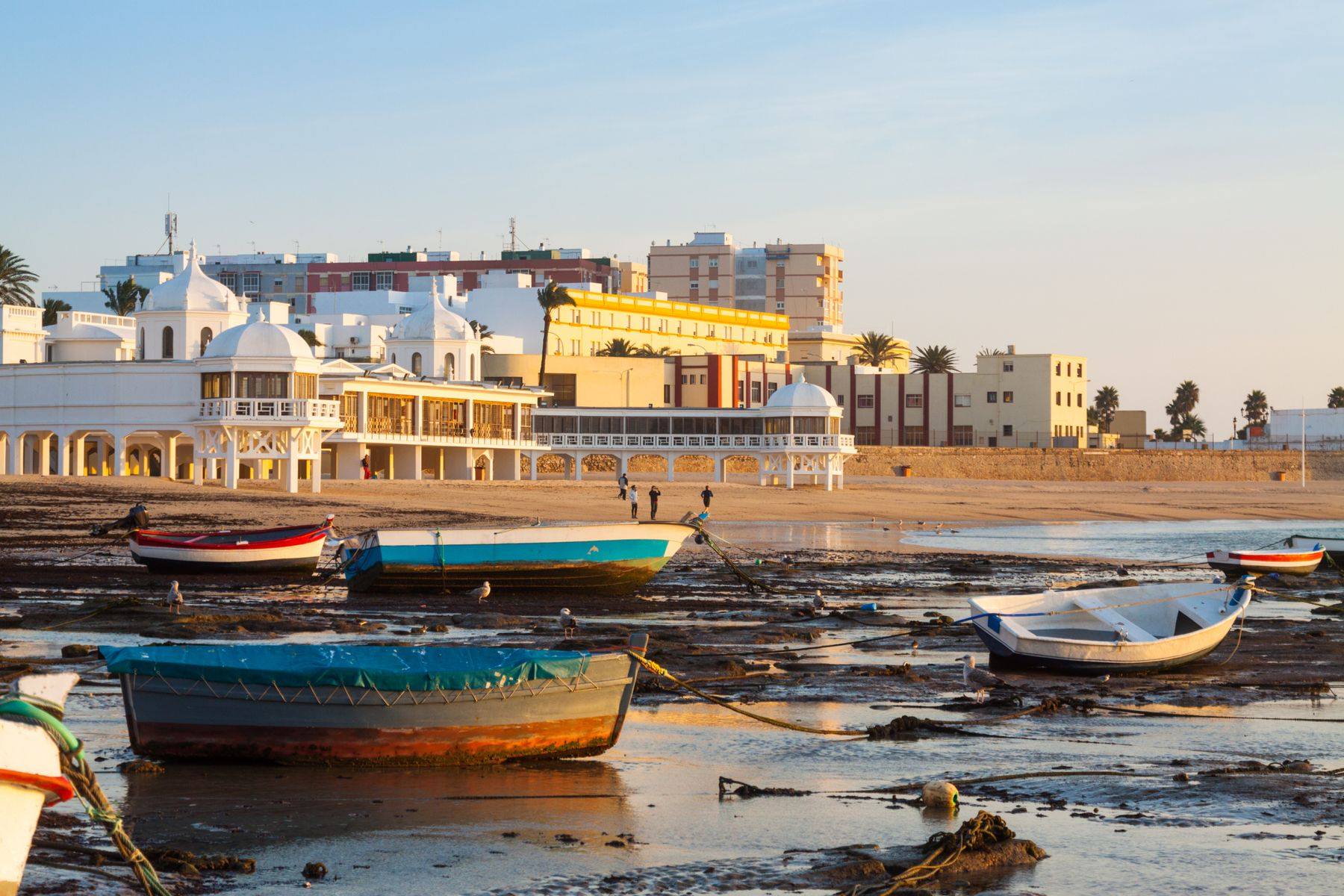 Colourful boats in Cadiz, Andalusia, Spain - one of the best holiday destinations in the Mediterranean