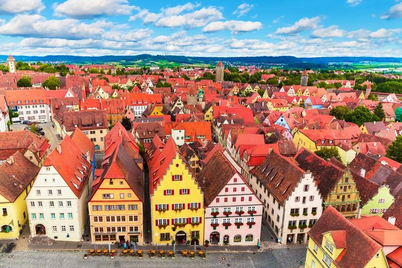 Кукольные домики в фахверковом городке Ротенбург-об-дер-Таубер в Германии