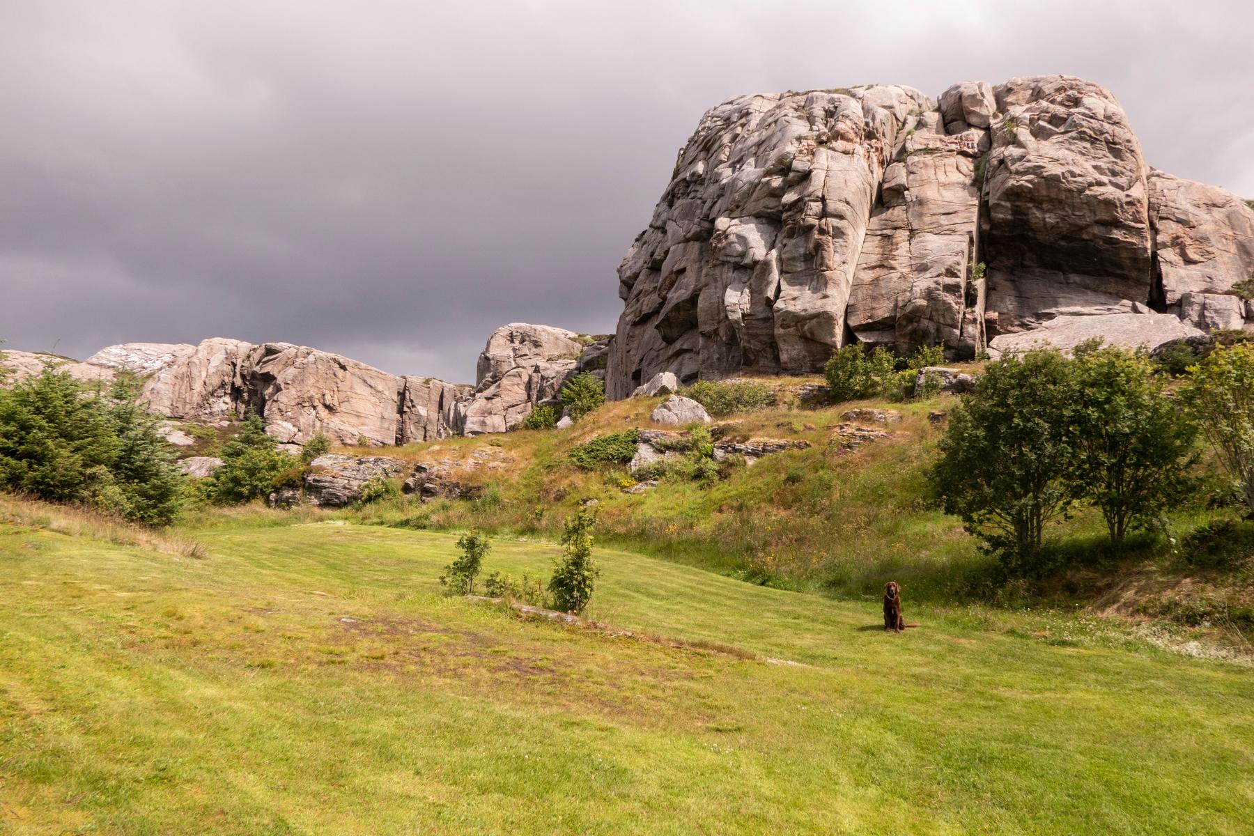 Felsen zum Klettern in Fiskesleppet, Norwegen