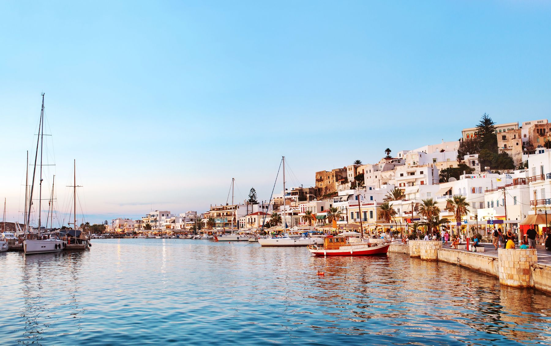 You can currently travel to and around Greece by boat