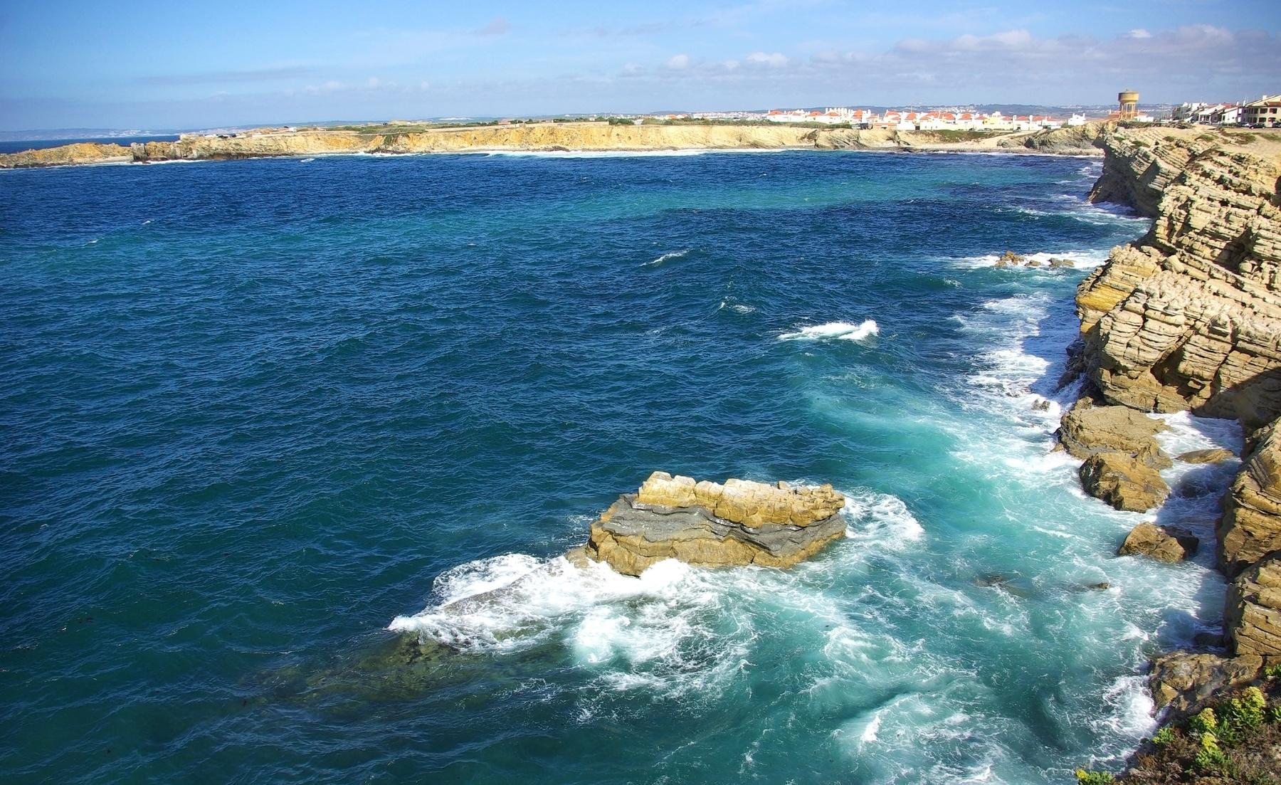 The coast of Peniche, Portugal