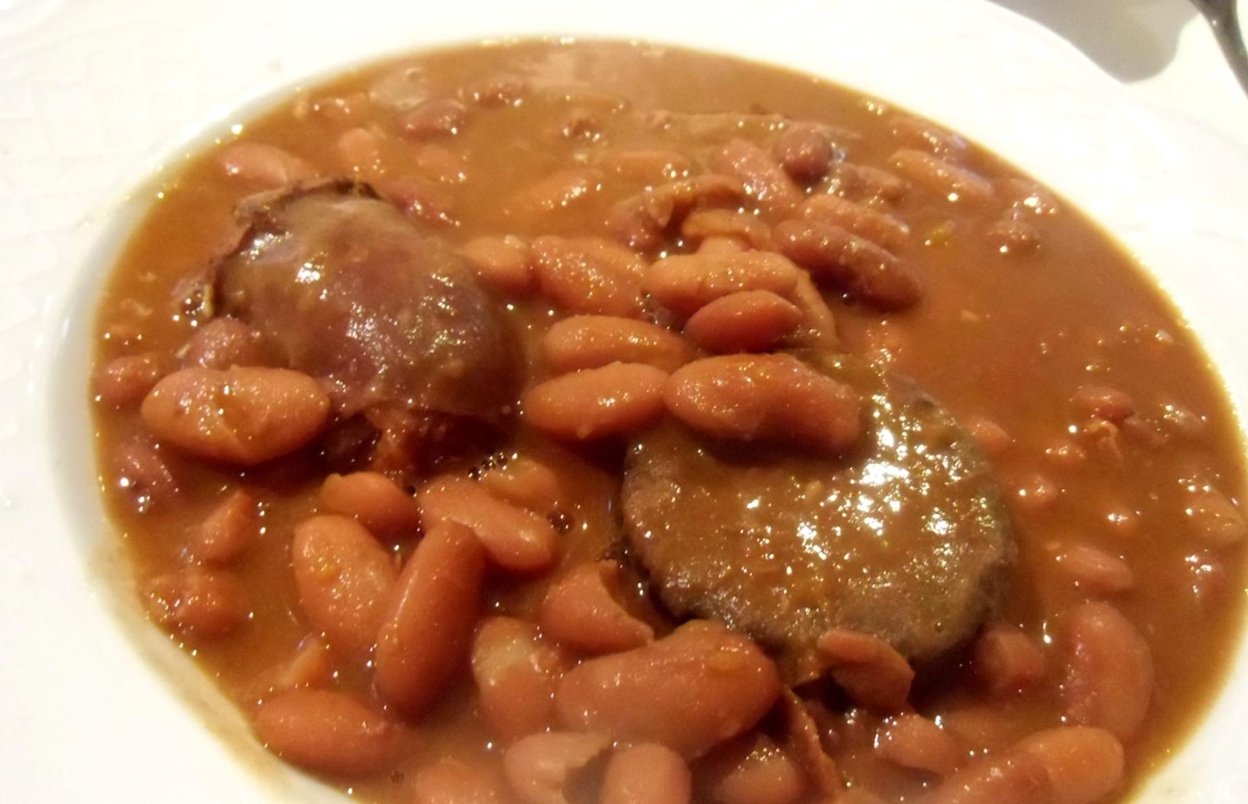 Alubias que comer en Uribe