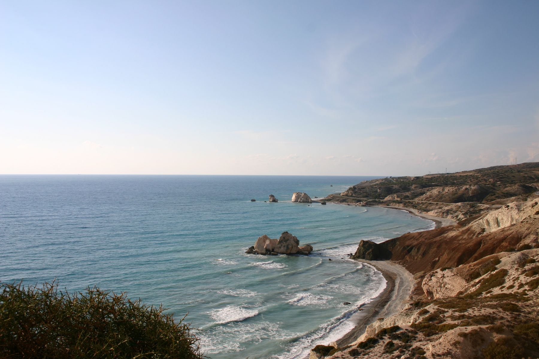 Paphos is hot in October - cool off in the sea