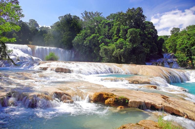 Messico- cascate di Agua Azul