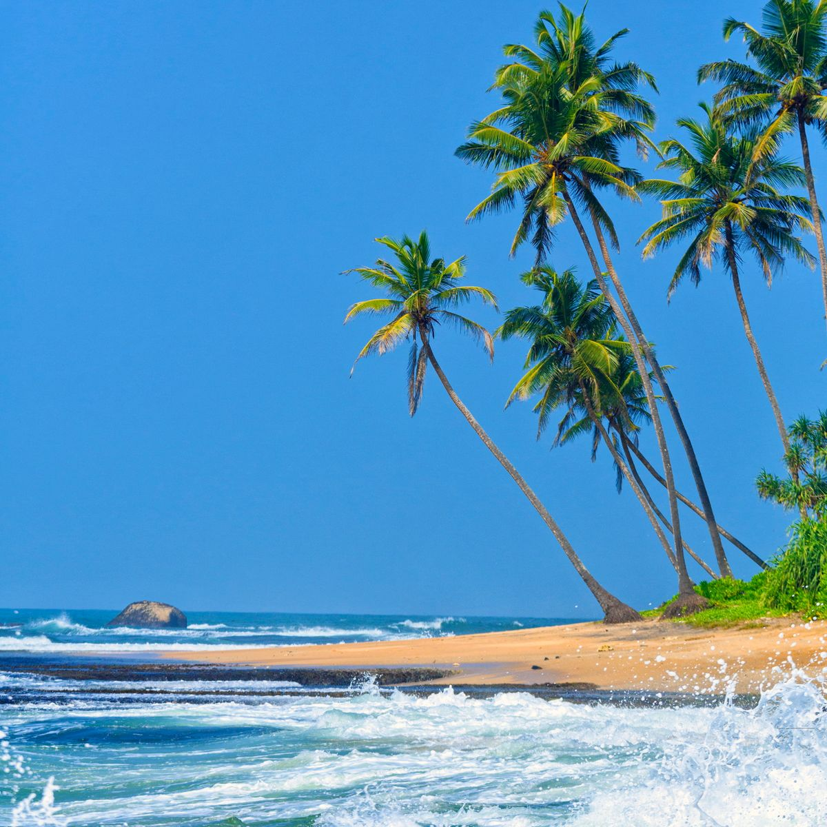 Tropical beach in Galle