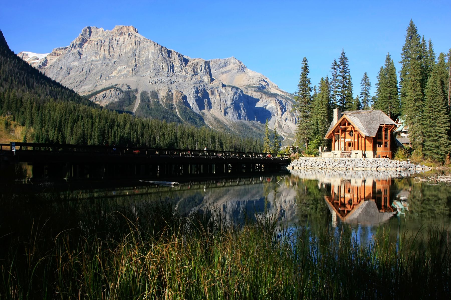 cabin in the woods in Canada. Staycations have proven to be popular in 2020 and into 2021.