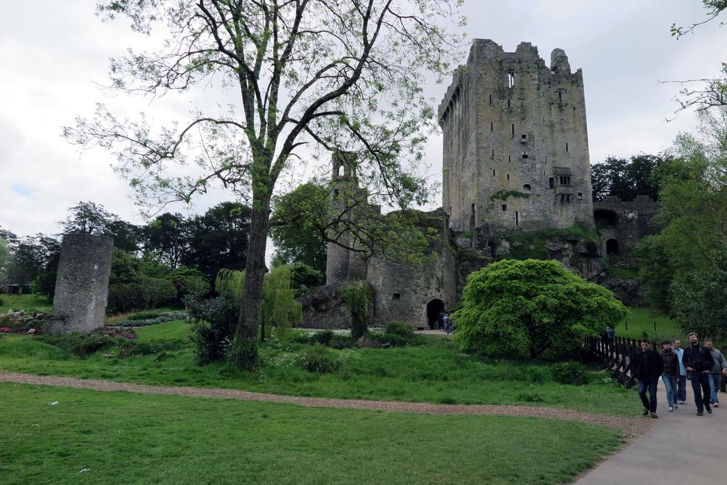 People leaving Blarney Castle, Ireland