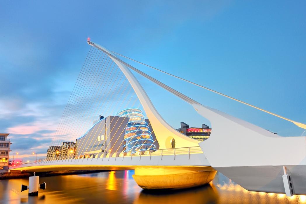 Beckett Bridge, Dublin at sunset