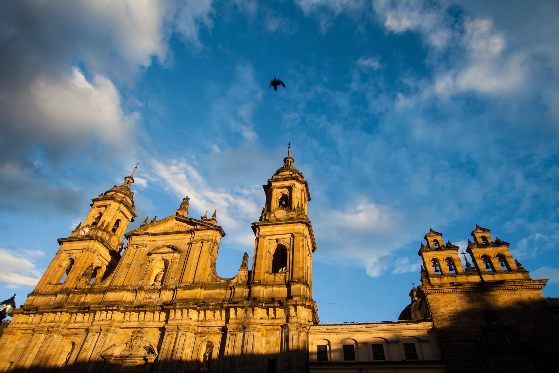 church in Bolivar square in Bogota, Colombia