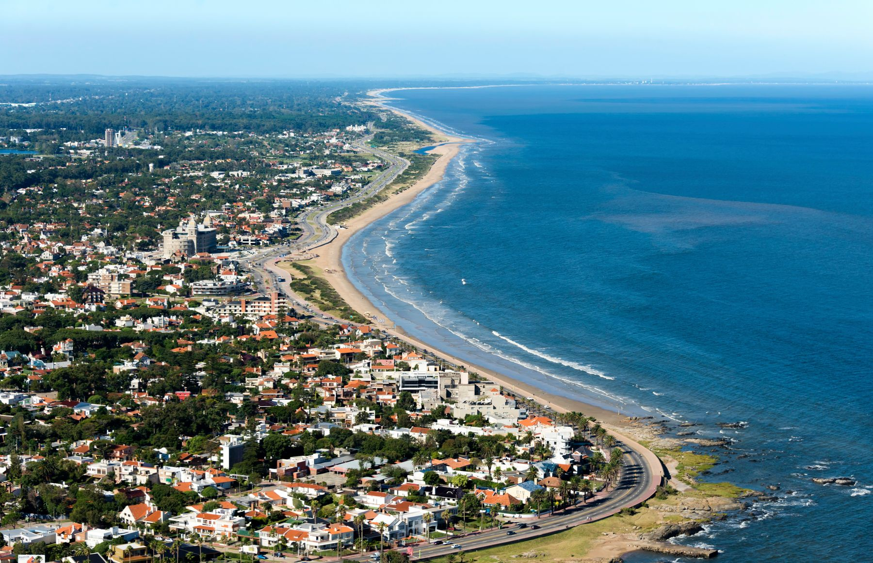 aerial view of beaches around montevideo uruguay