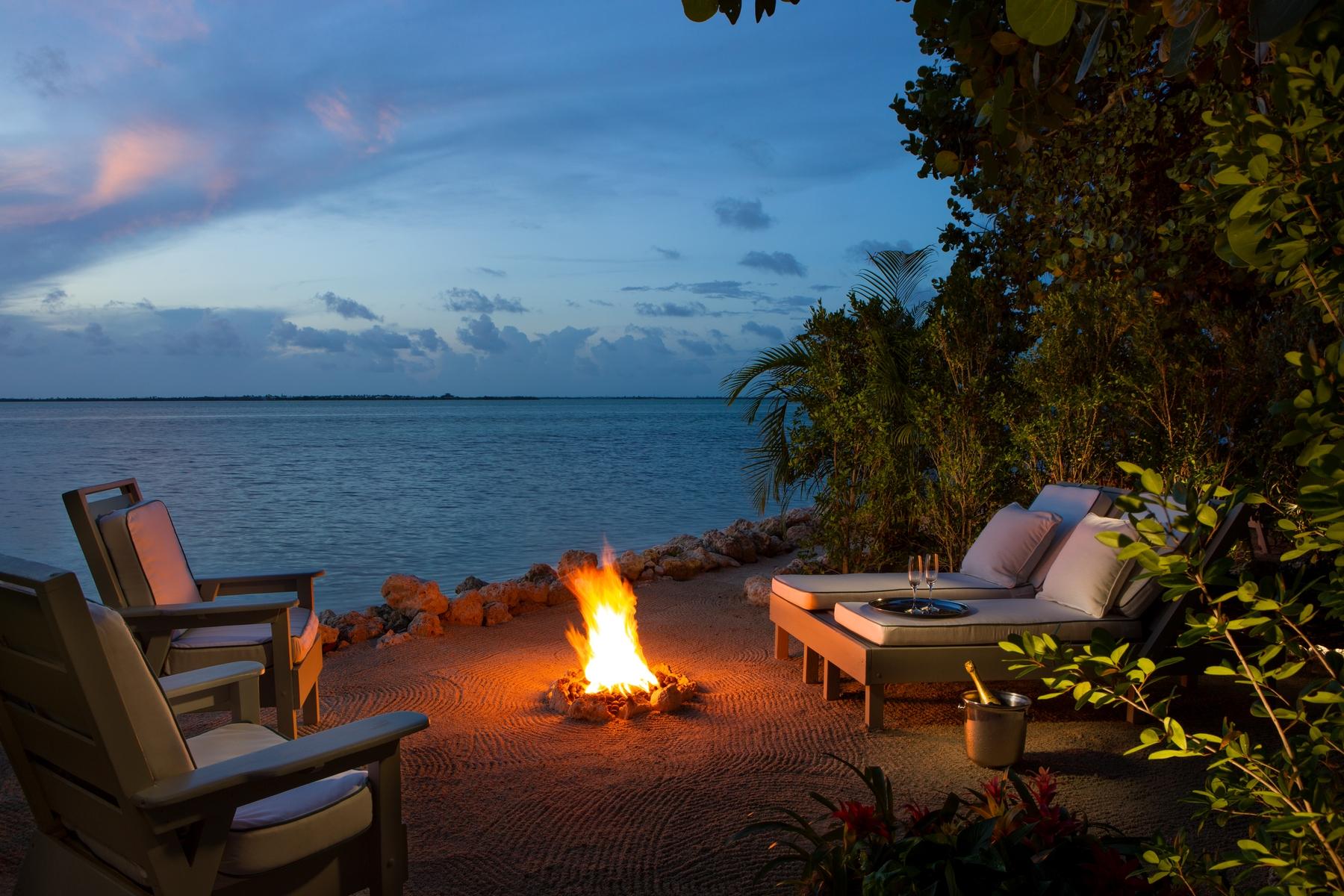 Bonfire at Little Palm Island Resort & Spa in Florida