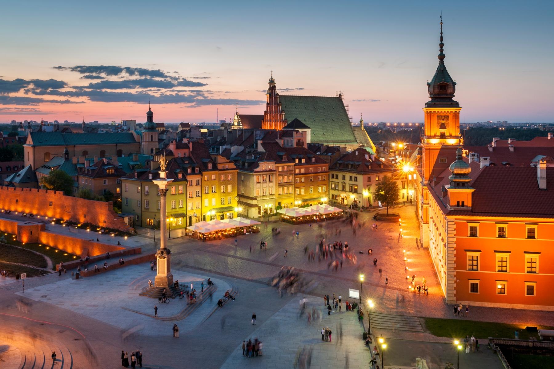 Королевский замок и Замковая площадь в Варшаве