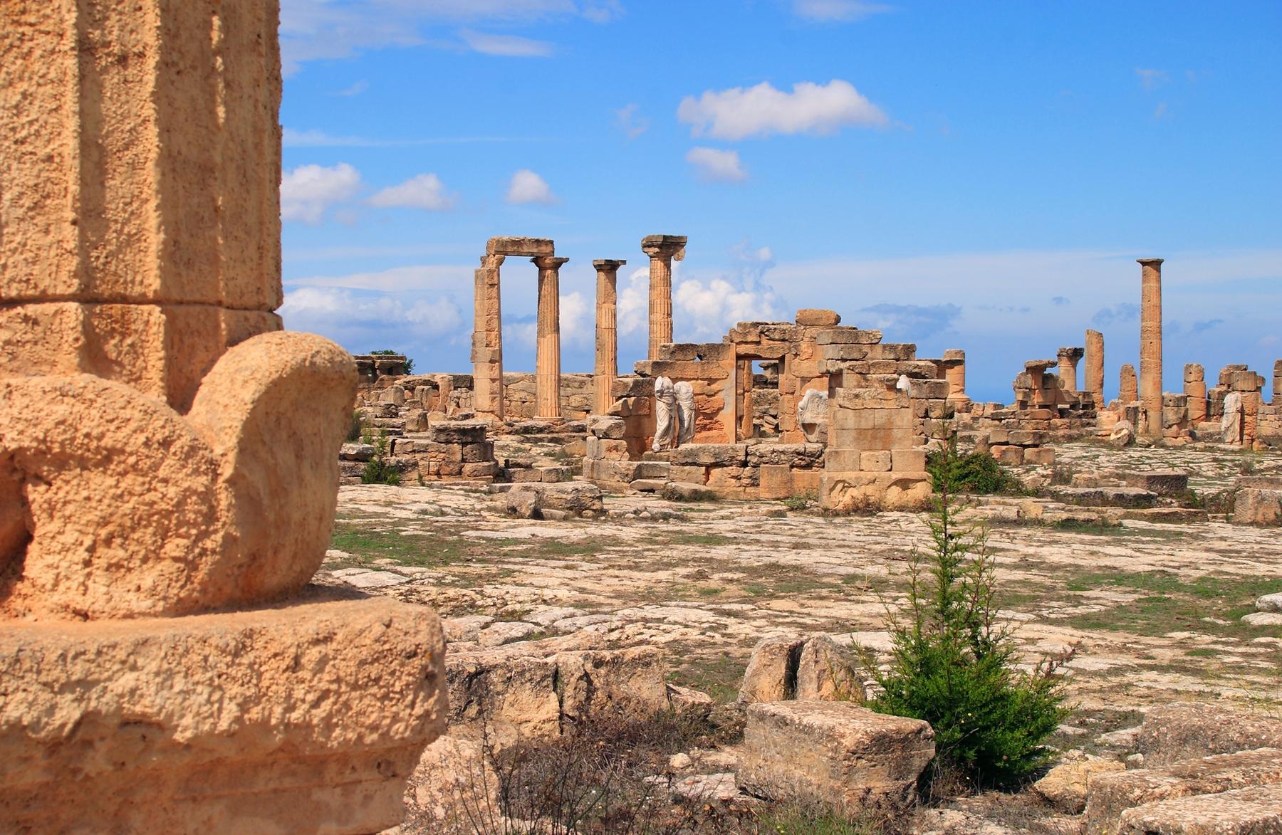 Países más grandes: Ruinas griegas en Libia