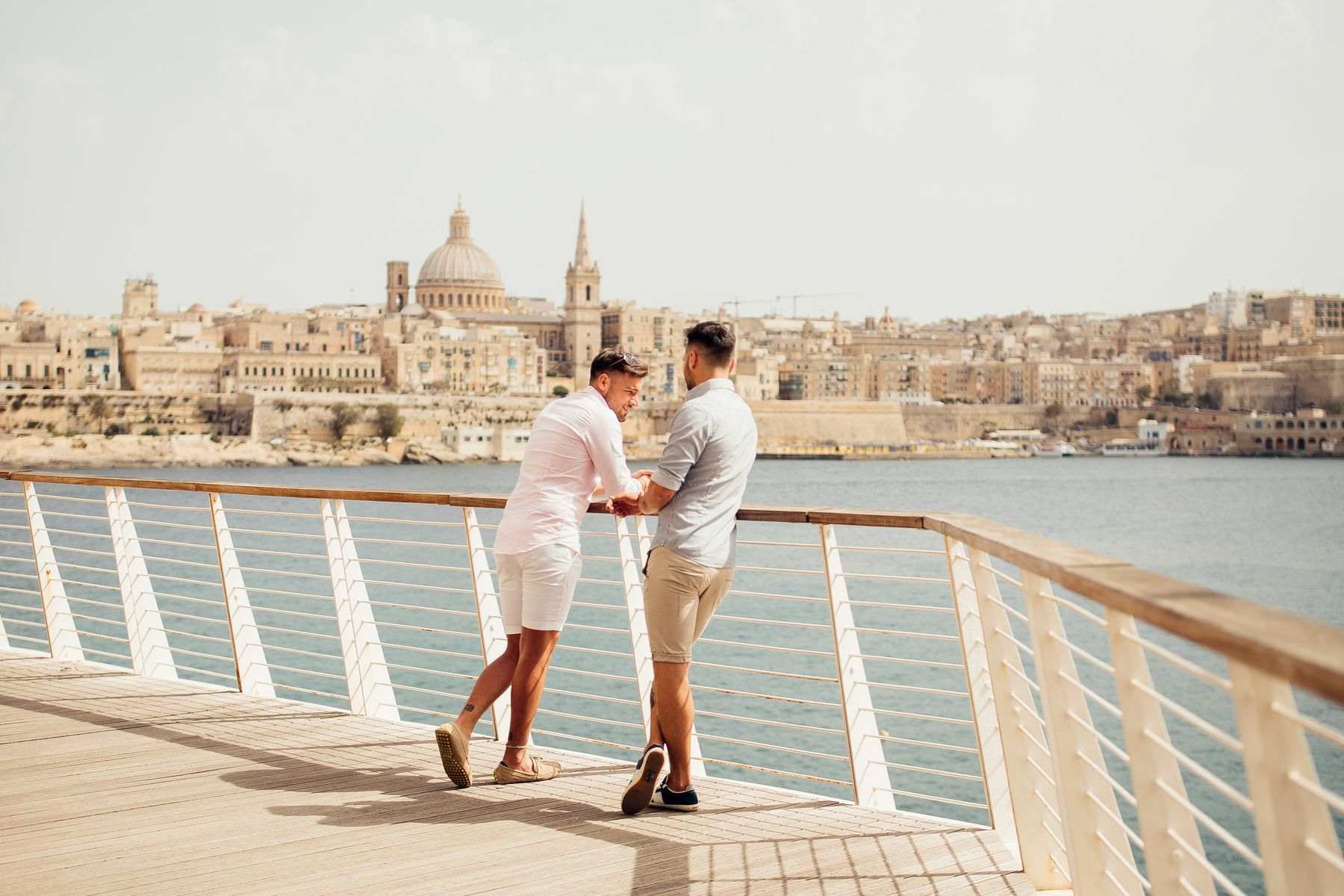 Gay couple in Sliema, Malta